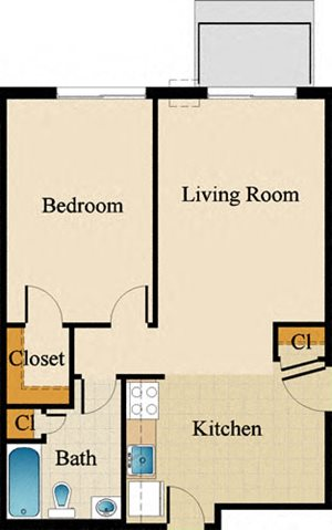 One Bedroom Standard Upgraded