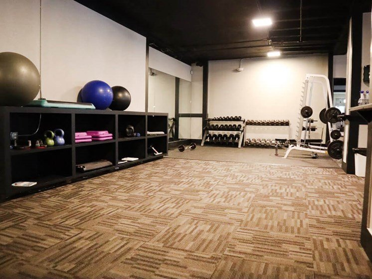 Newly renovated apartment fitness center