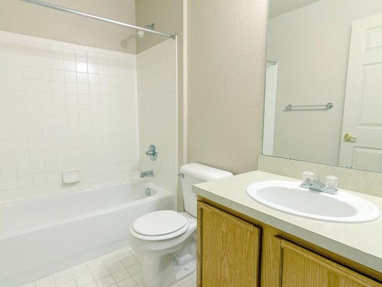 bathroom in luxury apartments in Taylor MI