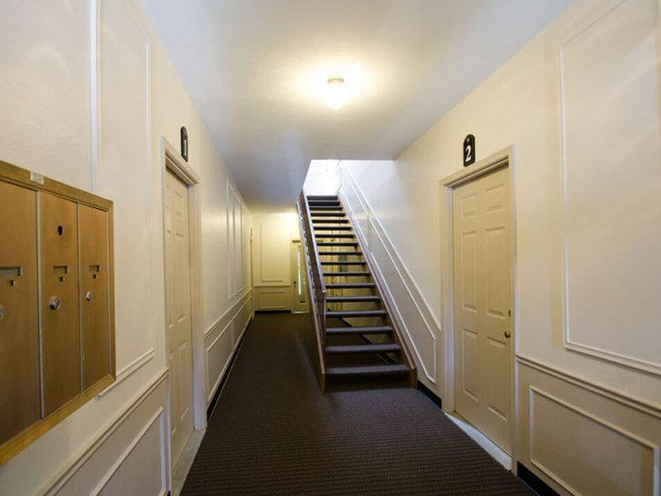 Shared Hallway in apartment complex