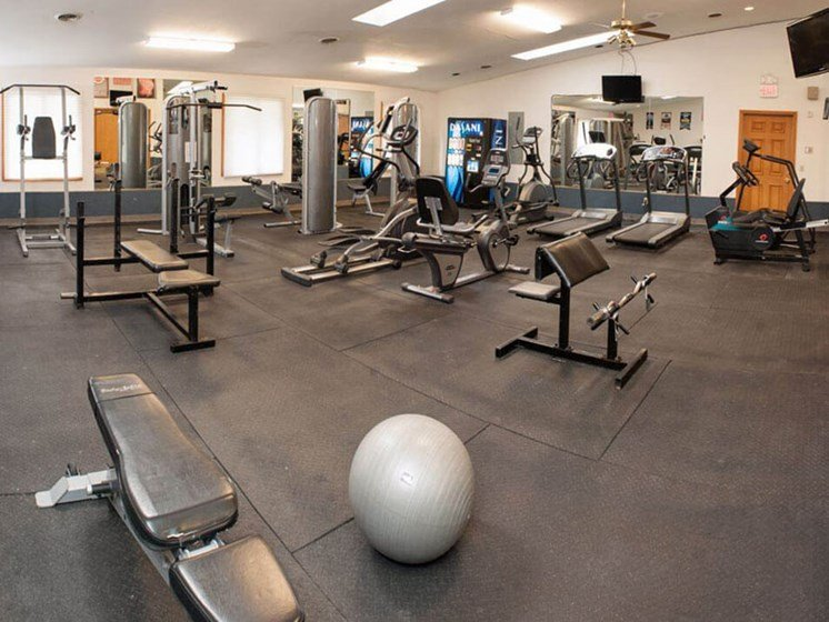 fitness center at Valley Stream Apartments