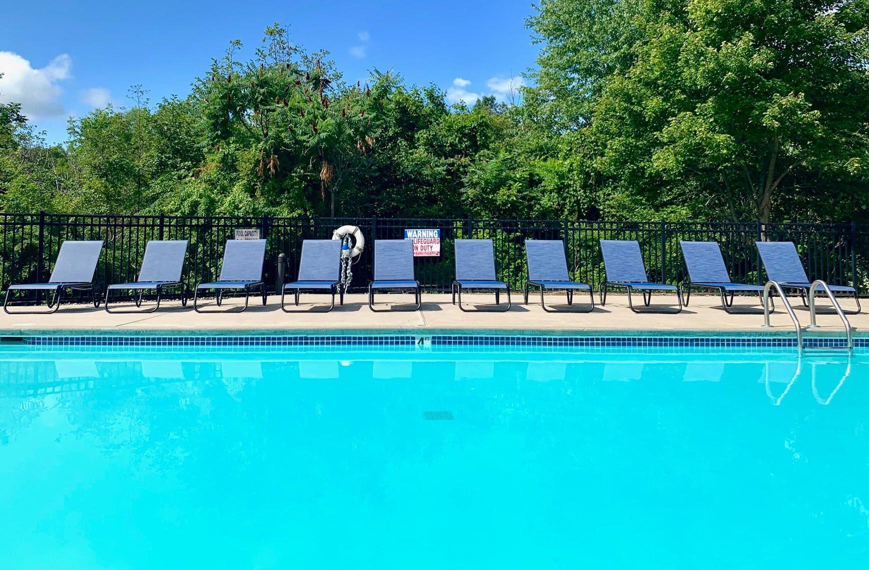 Pool at Shoreline Landing Apartments in Norton Shores, MI