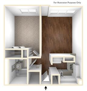 One Bedroom Apartment Floor Plan Quincy Tower Apartments