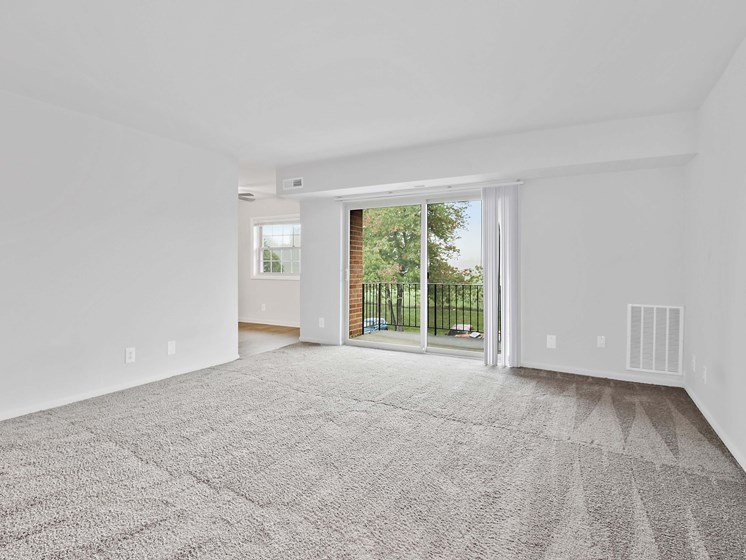 Empty room with balcony