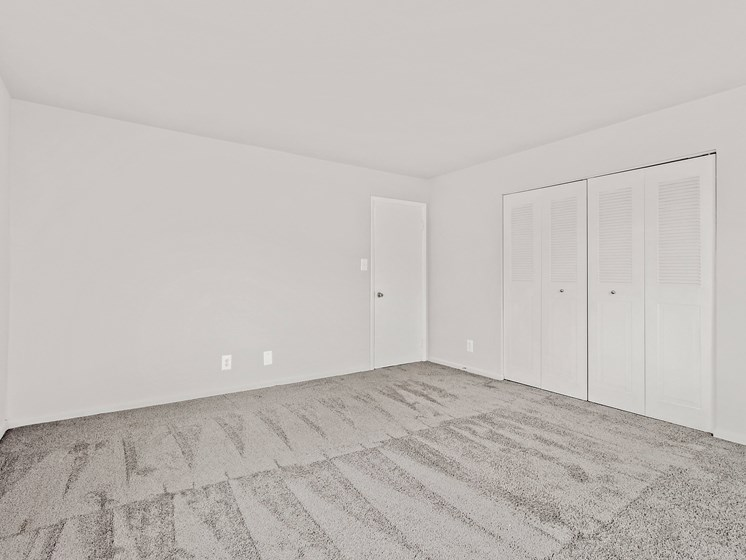 Large bedroom with closets