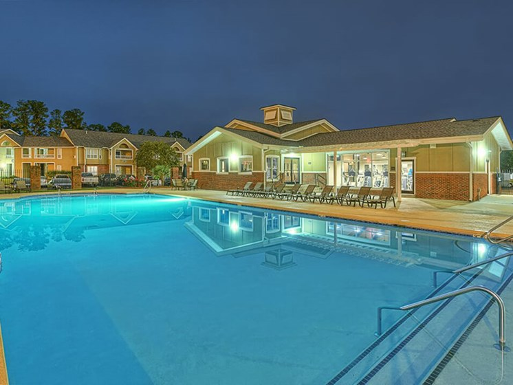 pool at apartment clubhouse