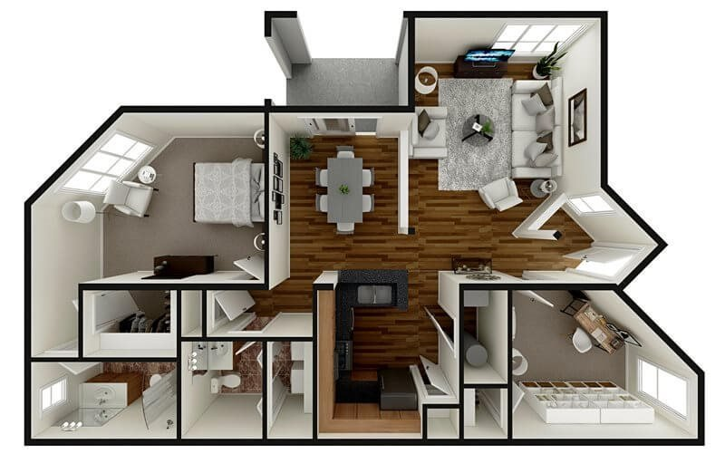 Floor Plans The Madison Apartments In Greenville Nc