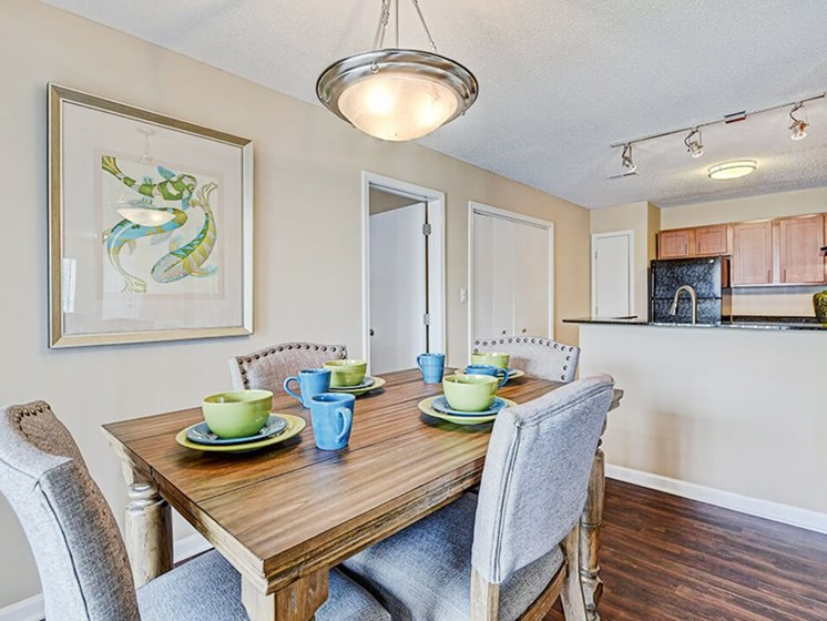 dining room in apartment