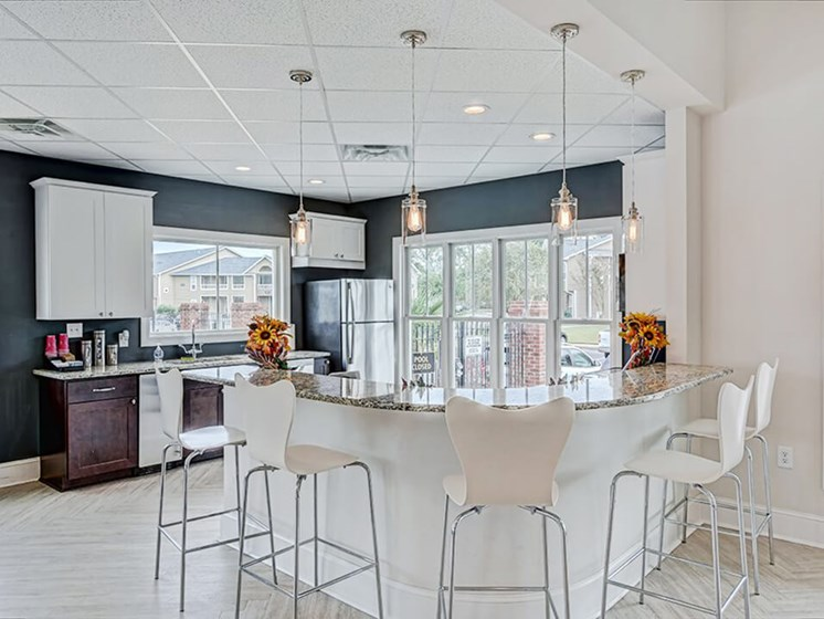 Clubhouse Kitchen at apartment complex