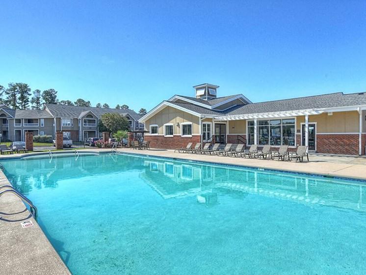 swimming pool at apartment community