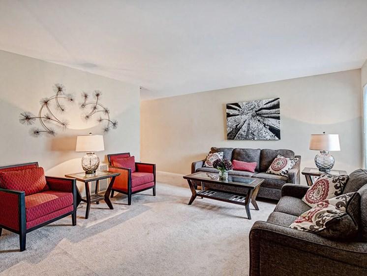 living room at Southgate apartments
