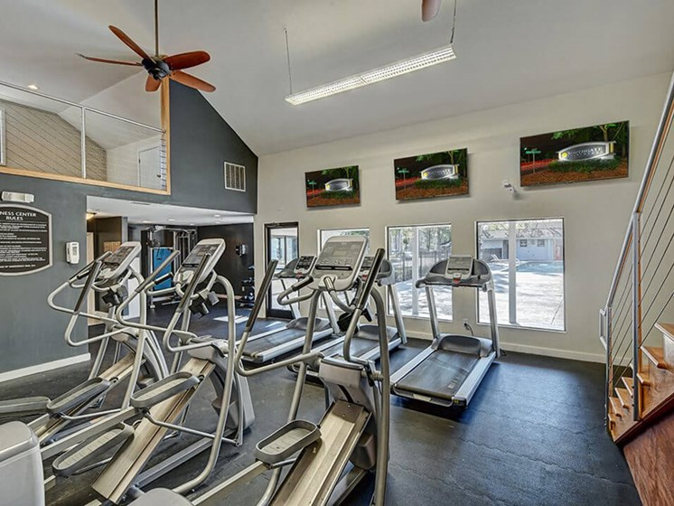 fitness center at Southgate apartments