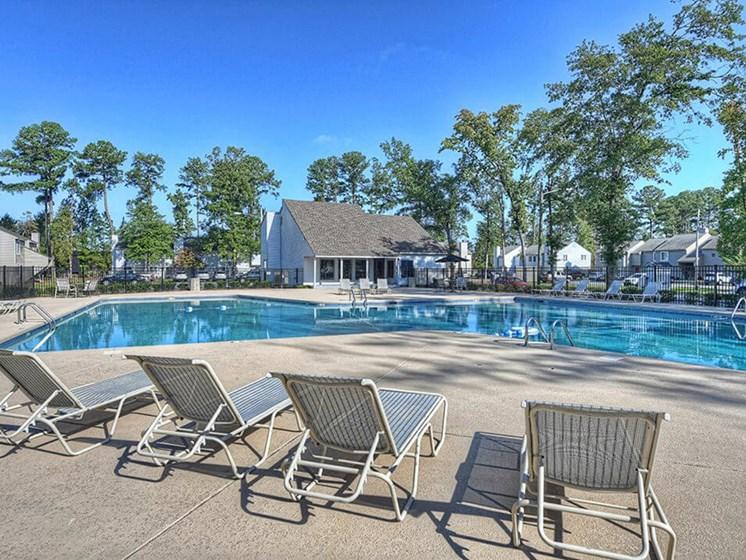 swimming pool at Southgate apartments