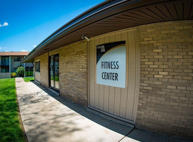 Carriage Park Apartments Fitness Center Signage