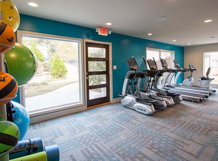 Health and Fitness Center Fully Equipped with Cardio Machines and Yoga Equipment, Complete with a View at Artesian East Village, Atlanta, GA 30316