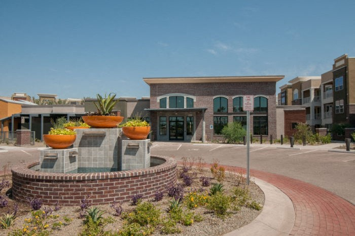 exterior property leasing office