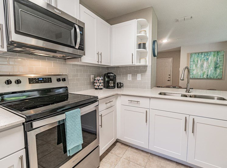 Electric Range In Kitchen at The Boot Ranch Apartments, Florida, 34685