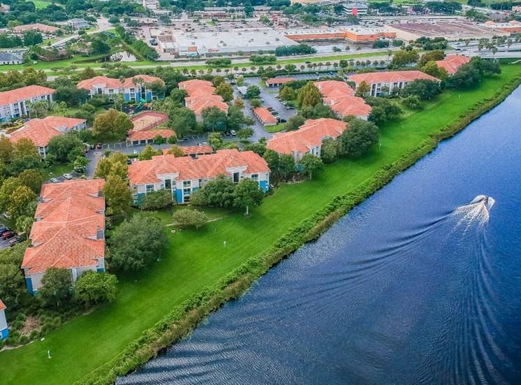 Lake With Lush Natural Surrounding at The Boot Ranch Apartments, Florida