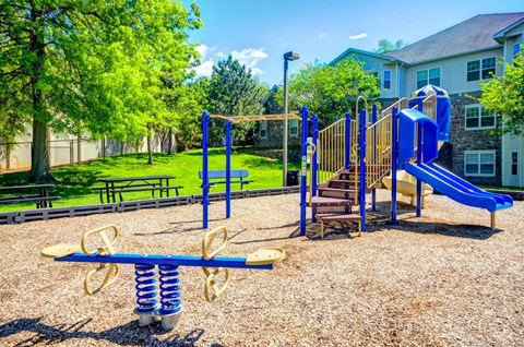 children's playground and outdoor benches