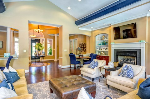 luxurious clubhouse with spacious seating areas