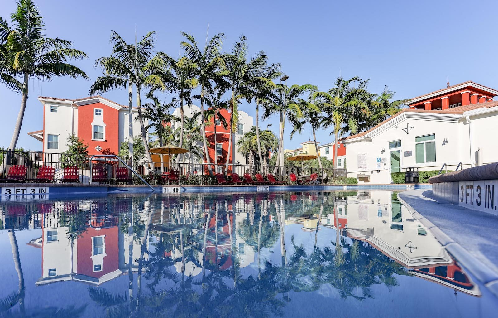 East Village Apartments in Davie, Florida pool slider
