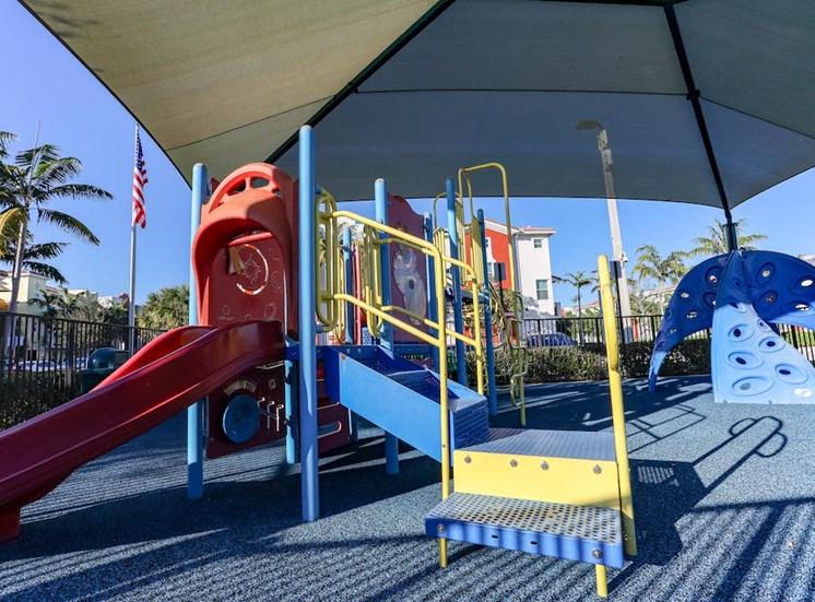 covered modern playground