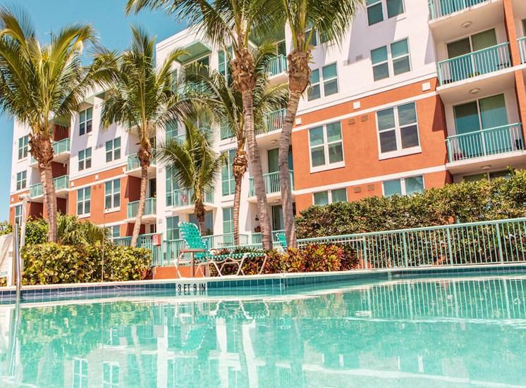 sparkling resort-style pool