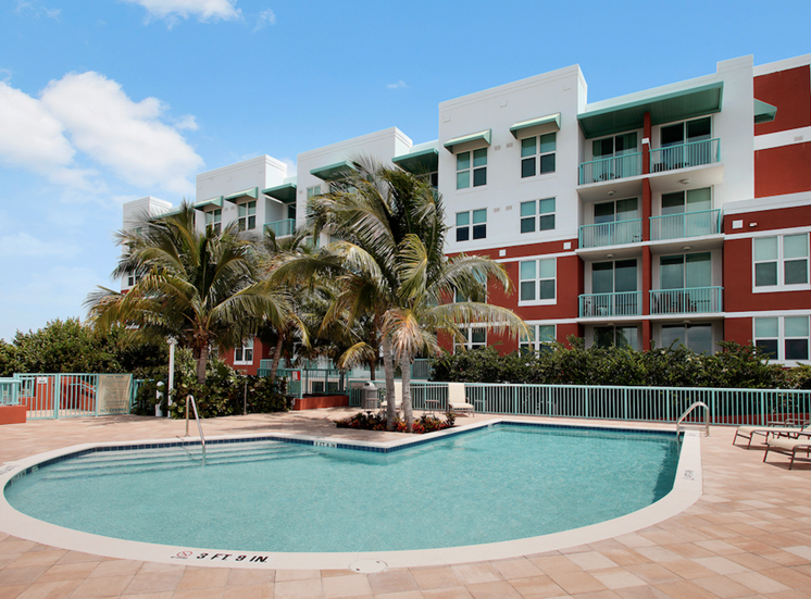 sparkling pool and recreation deck
