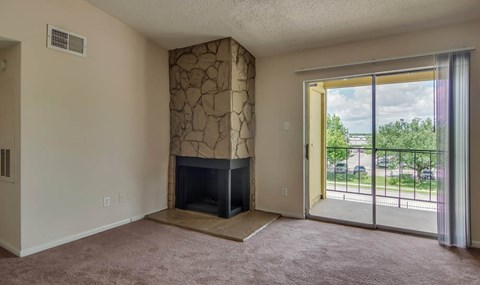 Stone Fireplaces are available on selected units    Southwest Houston Apartments For Rent   Southpoint Apartments