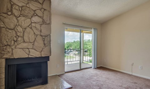 Stone Fireplaces are available on selected units   Southeast Apartments For Rent   Southpoint Apartments