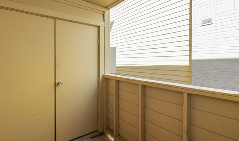 Extra Storage is available on patios   Southeast Apartments For Rent   Southpoint Apartments