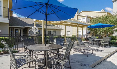 Lounge seating is available by the pools   Southeast Apartments For Rent   Southpoint Apartments