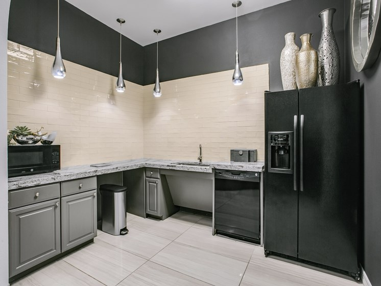 kitchen with 9 foot ceilings