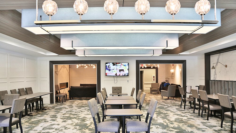 A dining room for seniors at The James Ferndale