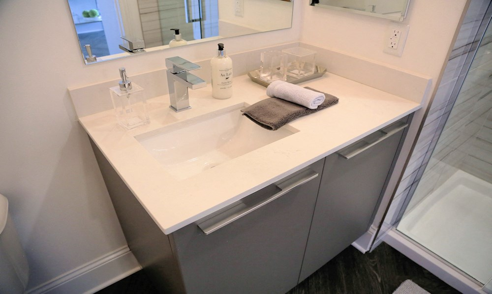 A large bathroom for seniors at The James Ferndale
