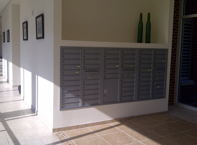Mailboxes at St. Giles Manor Senior Apartments