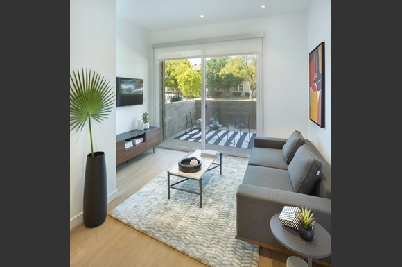 Modern Living Room at Concourse, Los Angeles, California