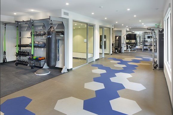 Flex Rooms With Fitness Space For Yoga, Spin And Pilates at Concourse, Los Angeles