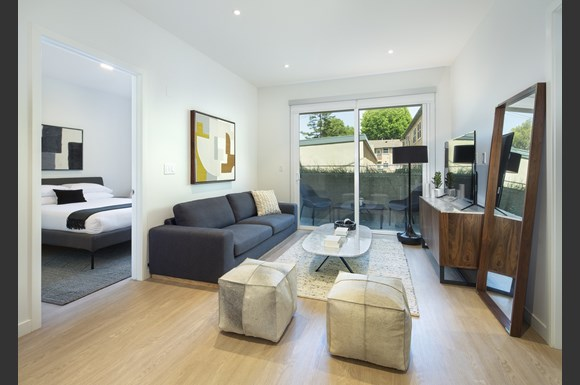 Spacious Living Room With Private Balcony at Concourse, California