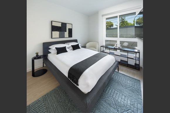 Beautiful Bright Bedroom With Wide Windows at Concourse, Los Angeles, CA, 90045