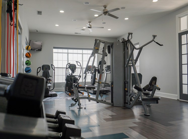 The Body Shop with Cardio Machines & Free Weights at The Shallowford Apartment Homes, Chattanooga, TN 37421