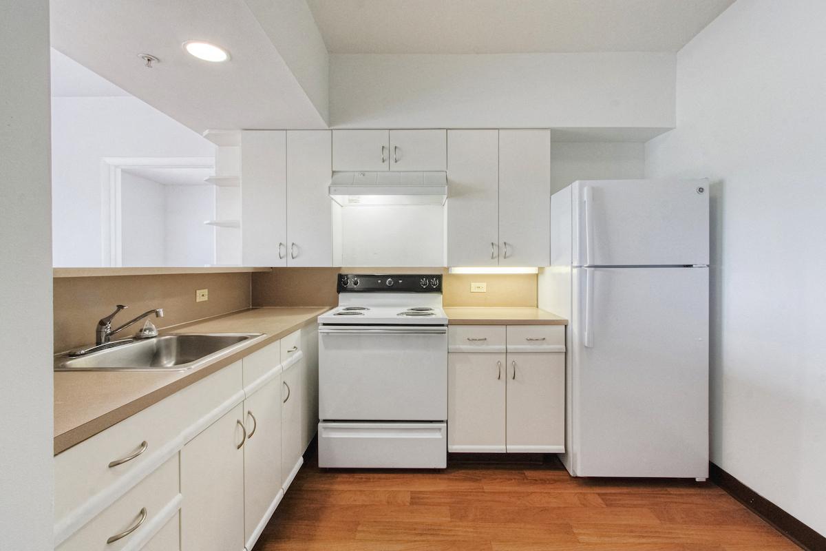 white efficient appliances in kitchen at villa Franciscan
