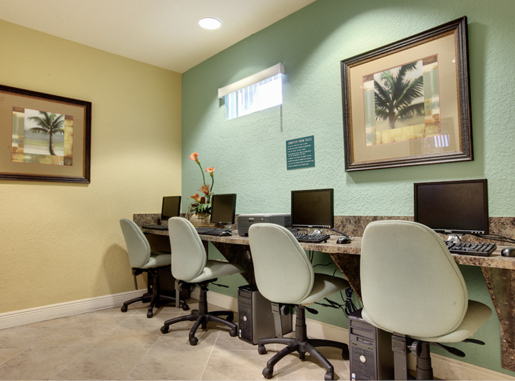 community business center with technology.