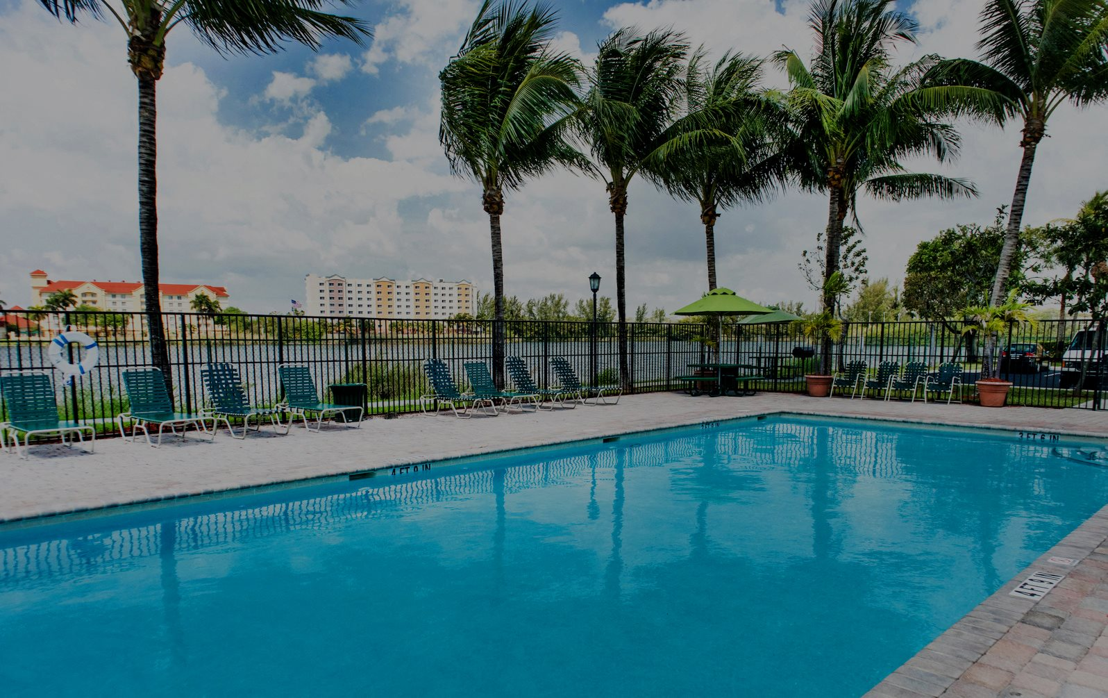 Beautiful Pool with Lake Views at our Hollywood Apartments