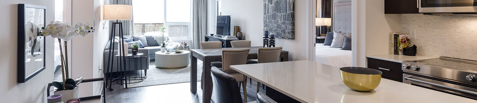 The Taunton open-concept suite layout in Oakville, ON