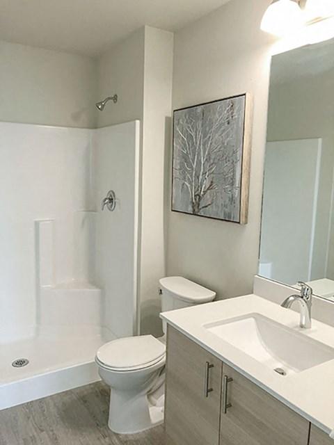 Bathroom at Harbor Heights, Olympia, Washington