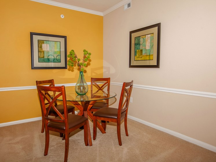 dining room with table and chairs