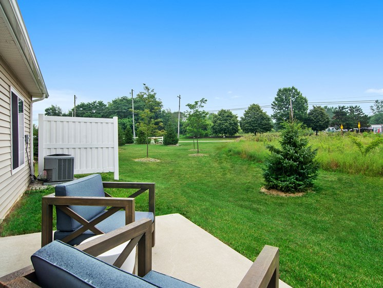 Valley City Ohio Apartment Rentals Redwood Valley City Personal Patio View