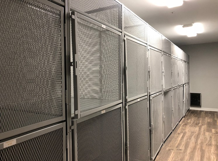 Storage lockers to keep your extra items safe,