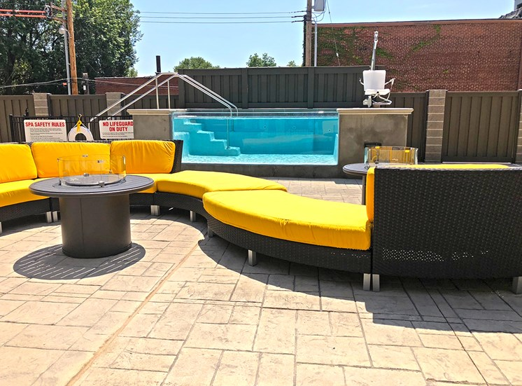 Wind down in our rooftop hot tub or join your friends by one of our fire pits.